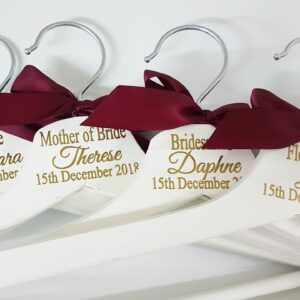 Adults White Wood Colour Personalised Wooden Hangers