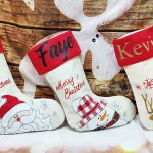 Personalised Stocking with Embroidered Design